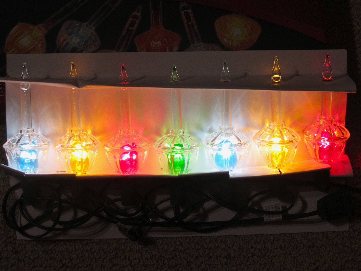NEW 7 Bubble Light Set Vintage Noma Style C7 Christmas Lights String ...