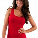 Women's Red Tank Top High Quality Sexy Full Back Tight Stretch new