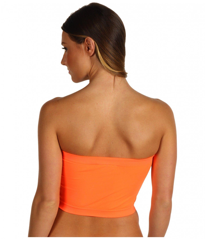 b185c1d364 Women s Bandeau Top Neon Orange New