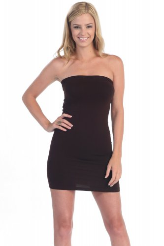 Brown Tube Dress Super Soft Form Fitting and Tight made in USA