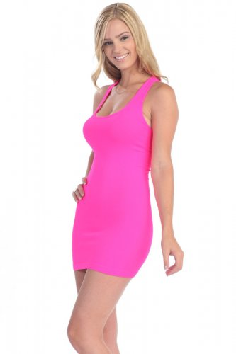 Women's Hot Pink Skin Tight Dress New made in USA