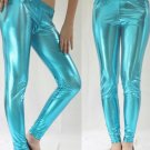 Turquoise Medium Shiny New Leggings Liquid Stretch Wet Vinyl Glossy Spandex