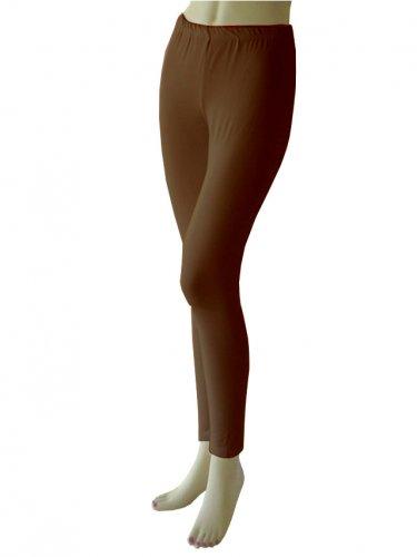 Women's Soft Brown Leggings Tights Yoga Pants Full length New