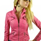Hot Pink Motorcycle Jacket Small