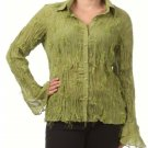 Women's Green Plus Size Blouse size 2XL