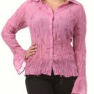 Women's Hot Pink Plus Size Blouse size 1XL