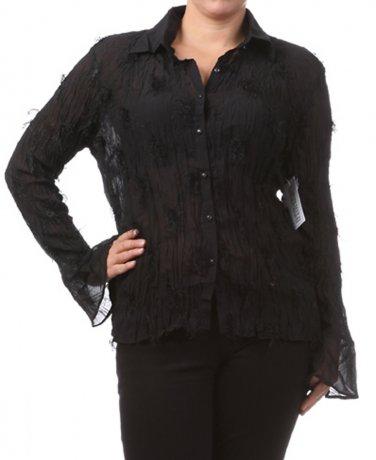 Women's Black Plus Size Blouse size 1XL