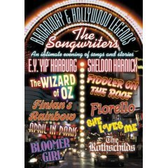"""Broadway & Hollywood Legends - The Songwriters - E.Y. """"Yip"""" Harburg & Sheldon Harnick - NEW DVD"""