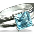 MTristaN Signature Blue Topaz and Pure Sterling Silver Ring