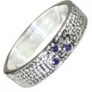 MTristaN Mens Textured Ring Sapphire
