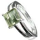 MTristaN Signature Ring Green Amethyst