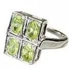 MTristaN Bridesmaid Ring Peridot
