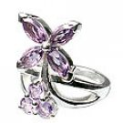 MTristaN Flower Ring Amethyst