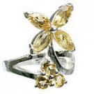 MTristaN Flower Ring Citrine