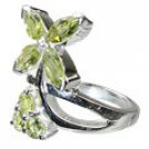 MTristaN Flower Ring Peridot