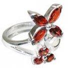 MTristaN Flower Ring Garnet