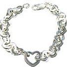 M. Tristan heart bracelet pure Sterling Silver