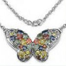 M. Tristan Sapphire butterfly necklace