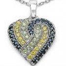 M. Tristan heart pendant Sapphire