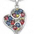 M. Tristan heart drop pendant Sapphire