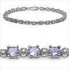 M. Tristan Tennis Bracelet Tanzanite and White Diamond