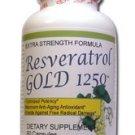 6 Bottles MAX POTENCY RESVERATROL GOLD 1250mg 100% Pure