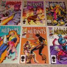 Marvel New Mutants 40-44, 48 Magneto, Barry Smith cover