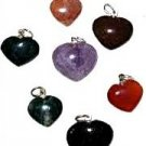 Heart Pendant Gemstones