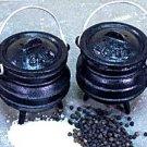 Cast Iron Cauldron Salt & Pepper Shakers