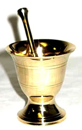 Small Brass Mortar And Pestle
