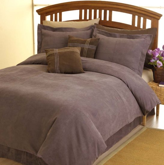 MESA MICROSUEDE QUEEN DUVET COMFORTER COVER 4p BEDDING Item #13