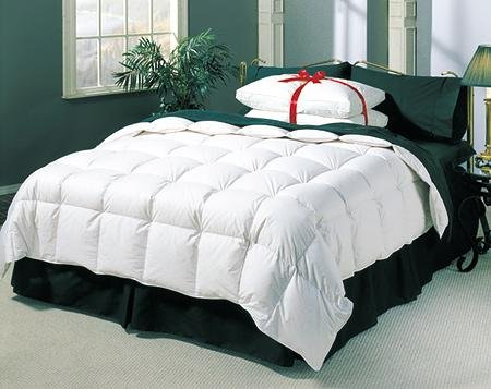 3 Pc. QUEEN WHITE DOWN COMFORTER and PILLOWS COMFORTERS