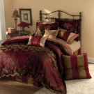 NEW Ornate Woven Damask Gold & Wine Bed in a Bag KING