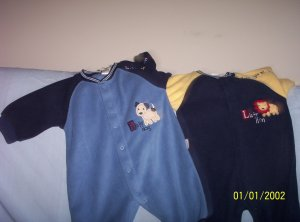 boys Set of Carters one piece outfits