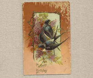 VINTAGE BIRTHDAY POSTCARD WITH ONE CENT UNITED STATES STAMP