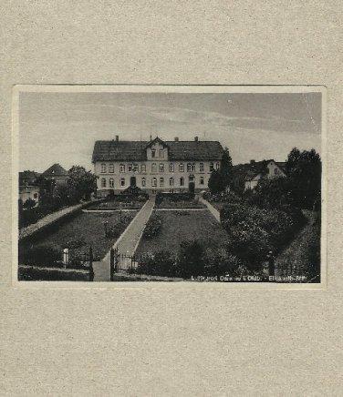 VINTAGE GERMAN LUFTKURORT DAMME POSTCARD 1945 WITH TWO 6 PFENNIG STAMPS