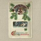 VINTAGE BELLVILLE ILLINOIS CHRISTMAS GREETINGS POSTCARD 1913