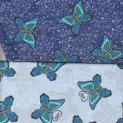 "200 6"" quilt blocks wide vareity of butterflys with coord colors"