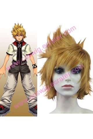 30cm Kingdom Hearts II Roxas  Halloween Cosplay Wig