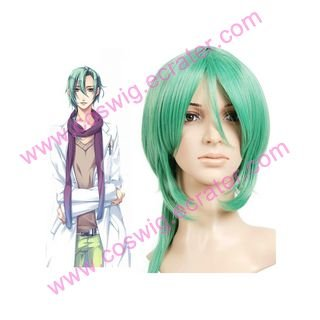 Green 60cm Starry�Sky-Hoshizuki Kotar� Nylon  Halloween Cosplay Wig