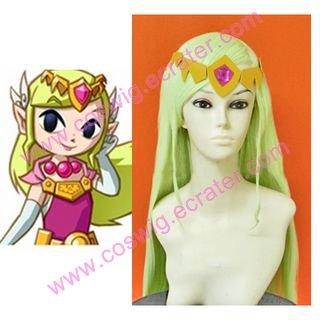 The Legent of Zelda Cosplay Wind Walker Zelda   Halloween Cosplay Wig