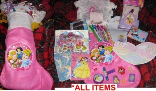 BRAND NEW Disney Princess Christmas Stocking + goodies! PERSONALIZED OPTION! #3
