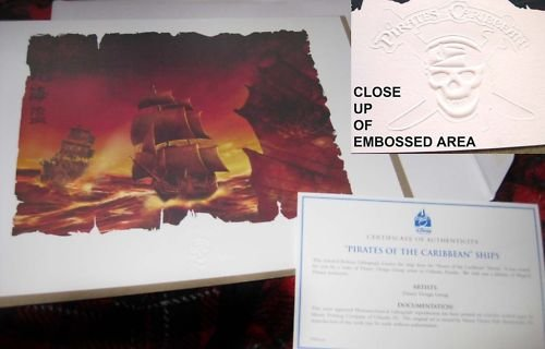 RARE EXCLUSIVE Pirates of the Caribbean Disneyland Litho
