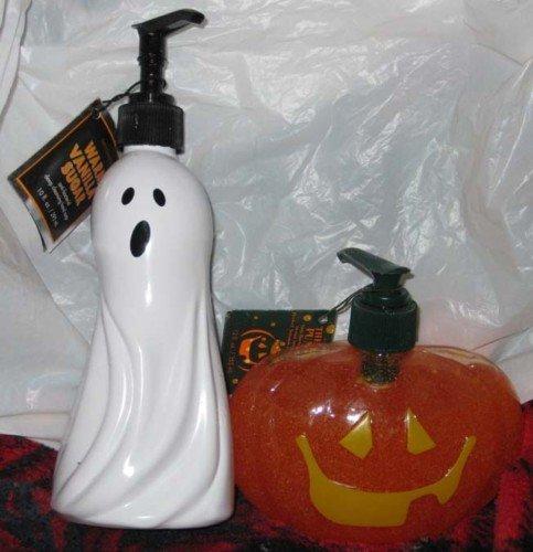 RARE NEW Bath & Body Halloween Ghost Jack o Lantern soaps