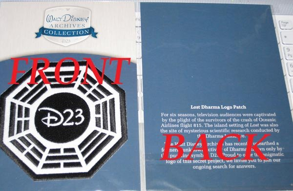 EXCLUSIVE Disney D23 EXPO Lost Dharma Initiative Patch!