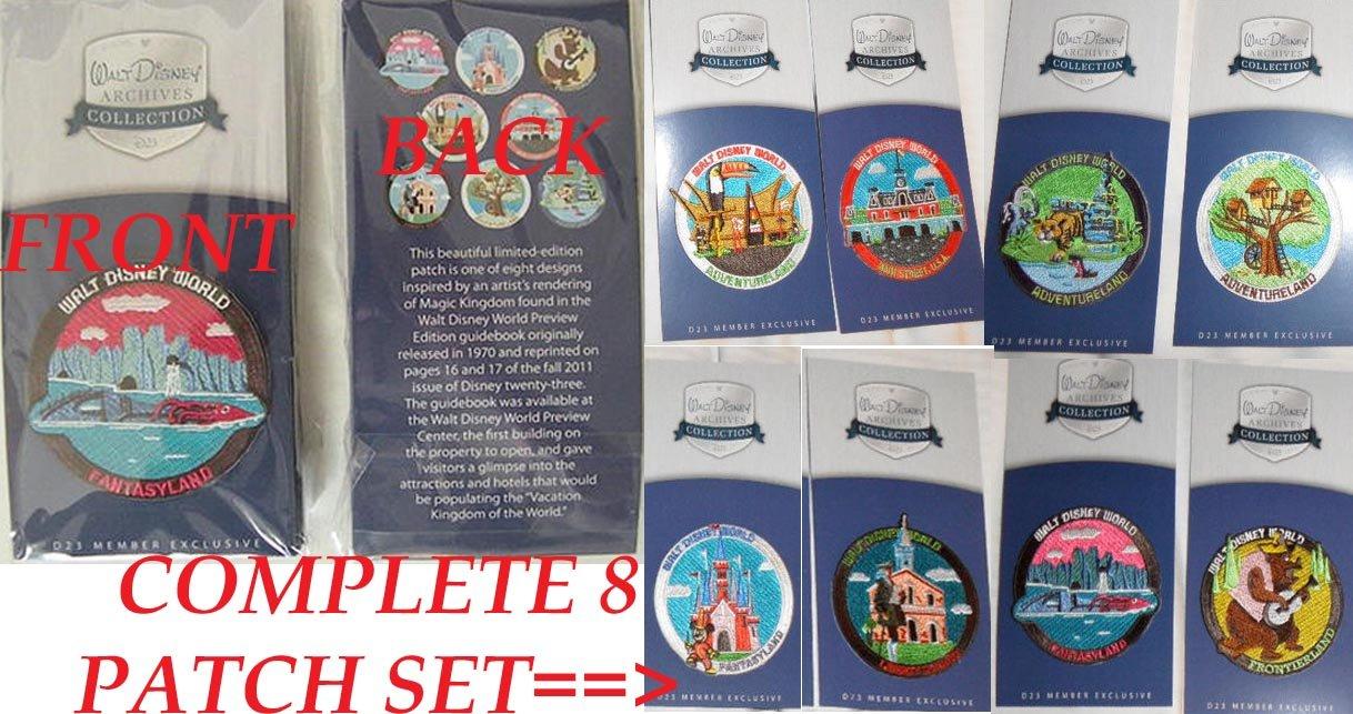 EXCLUSIVE Walt Disney Archives D23 Walt Disney World 40th Anniversary COMPLETE Patch Set