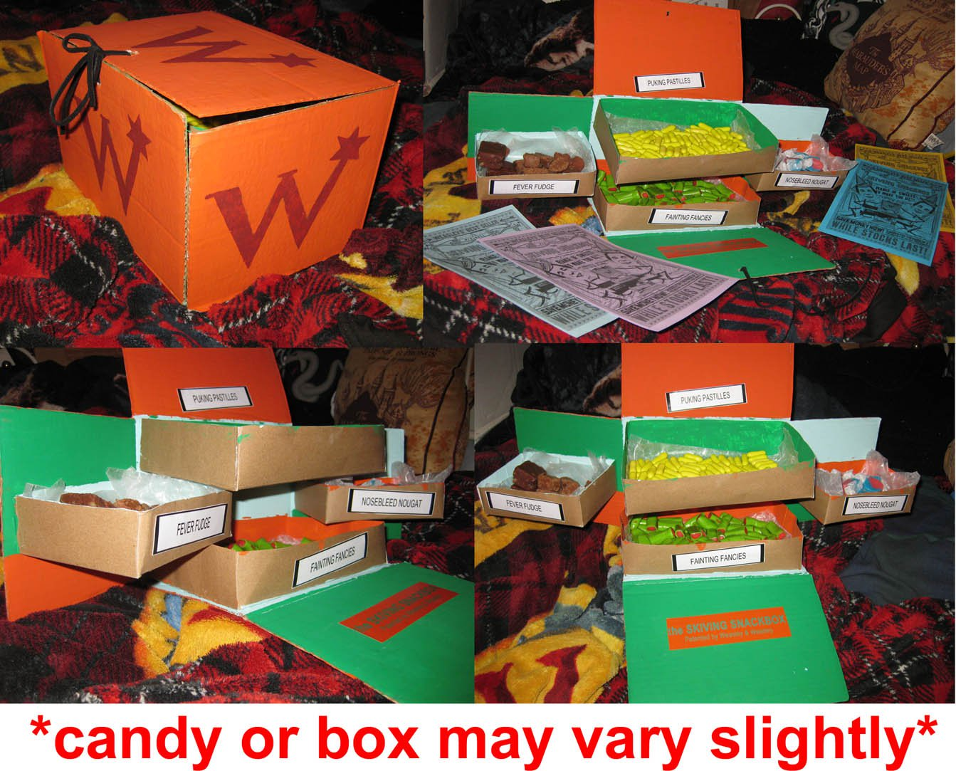 Harry Potter Weasleys' Wizard Wheezes Skiving Snackbox! Film accurate & filled w/sweets!