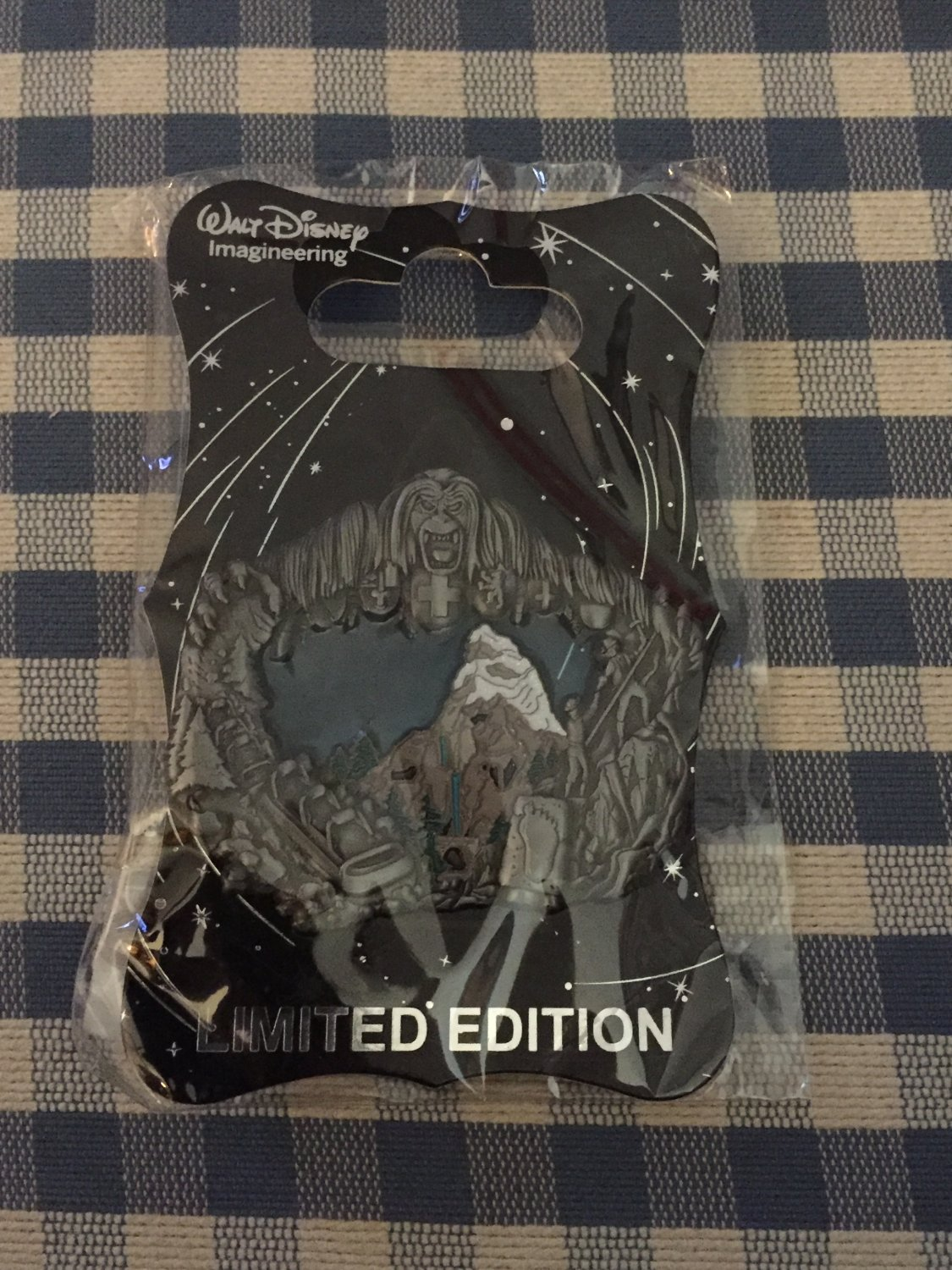 D23 Expo 2015 Imagineering Disneyland MATTERHORN Pewter Stained Glass Pin LE300