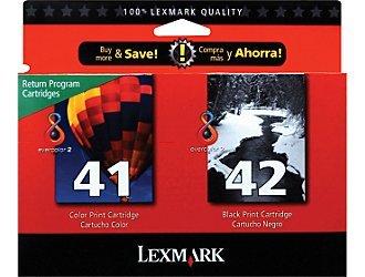 NEW Genuine Lexmark 41/42 Ink Cartridges Twin Pack