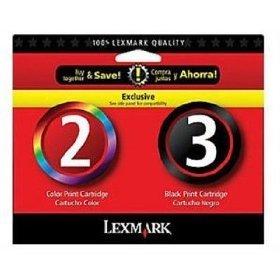 NEW GENUINE Lexmark 2/3 Black Color Ink Cartridges